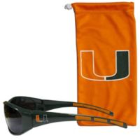 Univeristy of Miami Sunglasses and Bag Set