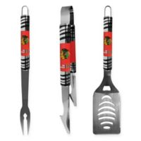 NHL Chicago Blackhawks 3-Piece Tailgater BBQ Grill Tool Set