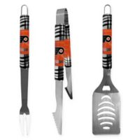NHL Philadelphia Flyers 3-Piece Tailgater BBQ Grill Tool Set