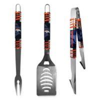 NFL Denver Broncos 3-Piece Tailgater BBQ Grill Tool Set