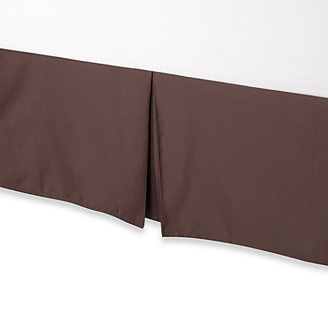 Palais Royale Hotel Collection Full Bed Skirt in Brown