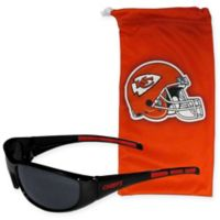 NFL Kansas City Chiefs Sunglasses with Microfiber Bag Set