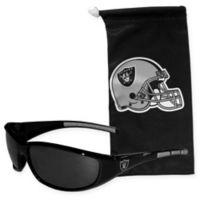 NFL Oakland Raiders Sunglasses with Microfiber Bag Set