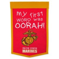 "United States Marine Corps Lil Fan ""My First Word Was Oorah"" Traditions Banner"