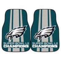 NFL Philadelphia Eagles Super Bowl LII Championship Car Mat (Set of 2)