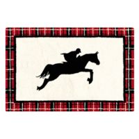 C&F Home Equestrian 2' x 3' Accent Rug in White