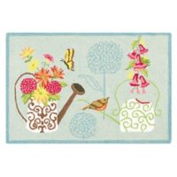 C&F Home Flower Power 2' x 3' Accent Rug in Blue