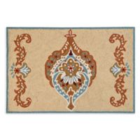 Mandalay 2' x 3' Hand-Hooked Accent Rug in Tan