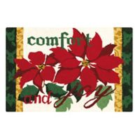 """Comforty & Joy"" 2' x 3' Wool Accent Rug in Red/Green"