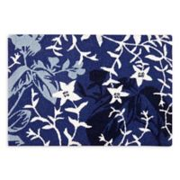 Mazarine 2' x 3' Hand-Hooked Accent Rug in Blue