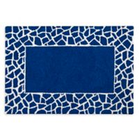 Mosaic 2' x 3' Hand-Hooked Accent Rug in Blue