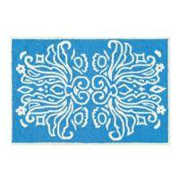 Veranda 2' x 3' Wool Accent Rug in Blue