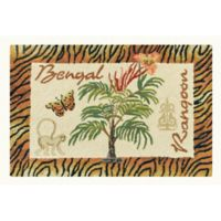 """Bengal/Rangoon"" 2' x 3' Wool Accent Rug in Tan"