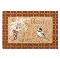 Harvest Gatherings 2' x 3' Wool Accent Rug in Tan
