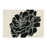 Dandridge Botanical 2' x 3' Wool Accent Rug in Black