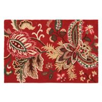 Constantine 2' x 3' Wool Accent Rug in Red