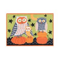 C&F Home 2' x 3' Hootenanny Owls Accent Rug in Green