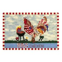 C&F Home 2' x 3' BBQ Chicken Accent Rug in Blue