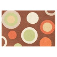 Tequila 2' x 3' Wool Accent Rug in Brown