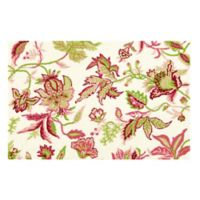 Jacobean 2' x 3' Wool Accent Rug in Pink