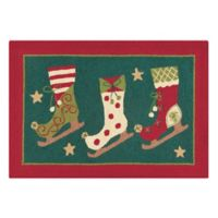 C&F Home Ice Skates 2' x 3' Accent Rug in Green