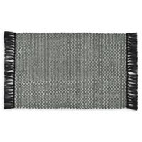 VCNY Home Flatweave Reversible 2-Foot 6-Inch x 3-Foot 10-Inch Accent Rug in Charcoal