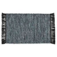 VCNY Home Flatweave Reversible 2-Foot 6-Inch x 3-Foot 10-Inch Accent Rug in Blue