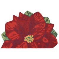 Liorra Manne for Trans Ocean Poinsettia Slice Door Mat in Red