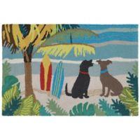 Liora Manne Frontporch 2' x 3' Dog Beach Accent Rug