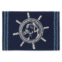 "Liora Manne Frontporch 1'8"" x 2'6"" Seadog Accent Rug in Blue"