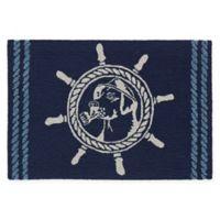 Liora Manne Frontporch 2' x 3' Seadog Accent Rug in Blue