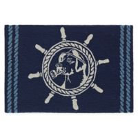 "Liora Manne Frontporch 2'6"" x 4' Seadog Accent Rug in Blue"