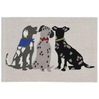 """Liora Manne Frontporch 2'6"""" x 4' Three Dogs Accent Rug"""