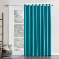 Sun Zero Mariah Grommet Room Darkening Sliding Door Curtain Panel in Marine