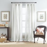 Destinations Seattle Sheer 95-Inch Rope-Top Window Curtain Panel in White