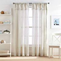 Lagos 95-Inch Rod Pocket Window Curtain Panel with Valance in Linen