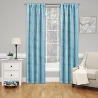 SolarShield® Willis 84-Inch Rod Pocket Room Darkening Window Curtain Panel in Sky