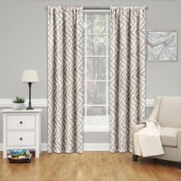 SolarShield® Penrose 95-Inch Rod Pocket Room Darkening Window Curtain Panel in Natural