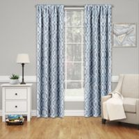 SolarShield® Penrose 63-Inch Rod Pocket Room Darkening Window Curtain Panel in Blue
