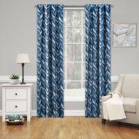 SolarShield® Dezi 95-Inch Rod Pocket Room Darkening Window Curtain Panel in Indigo