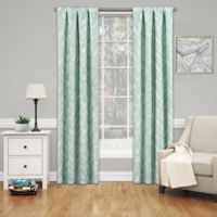 SolarShield® Dezi 95-Inch Rod Pocket Room Darkening Window Curtain Panel in Mint