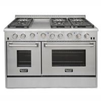 Kucht Pro-Style 48-Inch 6.7 cu. ft. Freestanding Gas Dual-Oven Range in Stainless Steel