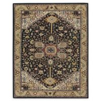 Capel Rugs Smyrna Serapi 9'6 x 13'6 Hand Tufted Area Rug in Black/Yellow