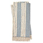 Magnolia Home by Joanna Gaines Colleen Throw Blanket in Blue/Ivory