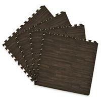 Achim Interlocking Foam Anti-Fatigue Tiles in Charcoal (Set of 4)