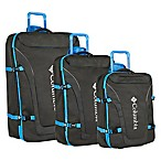 Columbia Free Roam 3-Piece Expandable Rolling Suitcase Set in Black