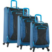 Columbia Kiger 3-Piece Spinner Luggage Set in Blue/Black