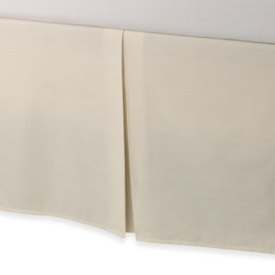 Smoothweave Tailored 18 Inch California King Bed Skirt In Ivory