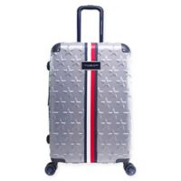 Tommy Hilfiger® Starlight 24-Inch Hardside Spinner Checked Luggage in Charcoal