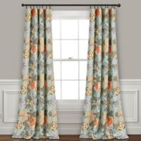 Lush Décor Sydney 84-Inch Rod Pocket Room Darkening Window Curtain Panel Pair in Blue/Green